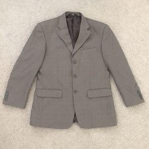 Haggar 3 Button Sport Coat Blazer Jacket Grey 40R